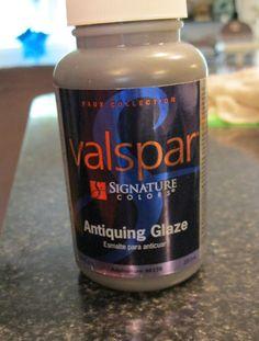 valspar antiquing glaze instead of dark wax......