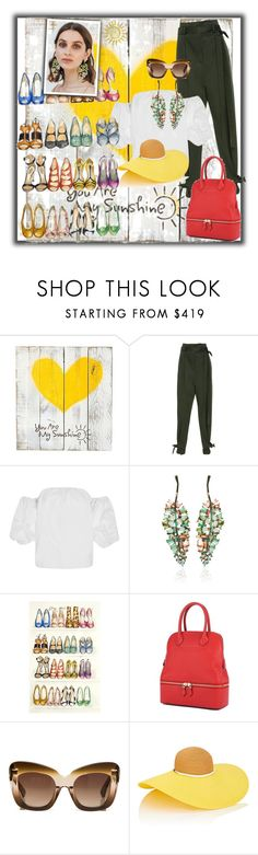 """""""You are my sunshine ☀️"""" by elza6 ❤ liked on Polyvore featuring Rosetta Getty, Johanna Ortiz, Erdem and Eugenia Kim"""