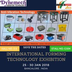 We Cordially invite you to visit us at at IMTEX2018 International Forming Technology Exhibition 2018 HALL NO. 3A STALL NO. G-104 www.vibrationmountsindia.com?utm_content=buffer5f232&utm_medium=social&utm_source=pinterest.com&utm_campaign=buffer