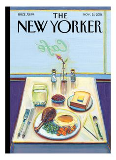 The New Yorker Cover - November 21, 2011 Giclee Print by Wayne Thiebaud at Art.com