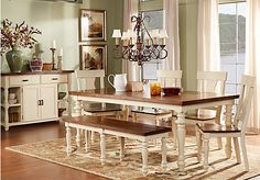 picture of Hillside Cottage White 5 Pc Dining Room  from Dining Room Sets Furniture