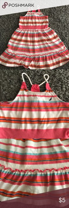 Nautica girls sundress Pretty striped sundress. Excellent condition. No rips or tears. Bundle together any 5 listings that are in the children's or baby category and make an offer for $15. Great deals!!! Nautica Dresses Casual
