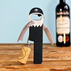 Piraten Flaschenöffner und Korkenzieher