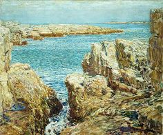 Coast Scene, Isles of Shoals, 1901  Childe Hassam (American, 1859–1935)  Oil on canvas  24 7/8 x 30 1/8 in. (63.2 X 76.5 cm)  Gift of George A. Hearn, 1909 (09.72.6)