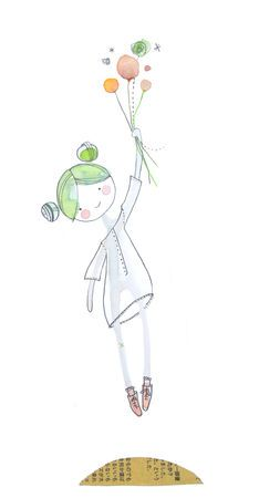 doll29 vers un week-end léger Watercolor And Ink, Watercolor Illustration, Watercolor Paintings, Watercolors, Art Fantaisiste, Art Carte, Whimsical Art, Doodle Art, Cute Drawings