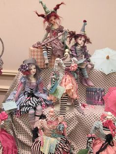 mountain of dolls-love the stockings and shoes