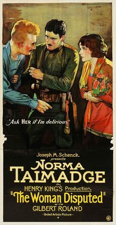 5/17/14  11:06a  United Artist Pictures Norma Talmadge  in ''The Woman Disputed' Vintage Movie Poster  1928 kimberlysondra.com