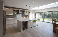 Enigma Design » Contemporary Flat Panel Finger Groove Kitchen Kitchen Decor, Kitchen Design, Kitchen Island, Contemporary, Finger, Flat, Home Decor, Island Kitchen, Cuisine Design