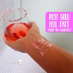 ROSÉ ALL DAY Tattoos | rose gold foil, gift for her, wine gift, brunch, yes way rose, vino before vows, rose all day shirt, girls night