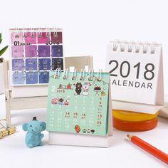 Calendars, Planners & Cards Peerless New Desk Standing Paper Calendar Multifunction Schedule Planner Notebook Kawaii Cartoon Animal Calendar Wide Selection;