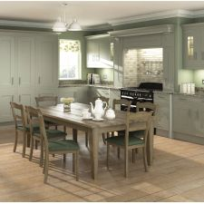 The Sheraton Painted In-Frame kitchen comes in a traditional style with a woodgrain effect finish. Browse the kitchen features and find a retailer near you. Traditional Kitchen Inspiration, Modern Traditional, Traditional Kitchens, New Kitchen, The Help, Dining Table, Sage, Furniture, Grey