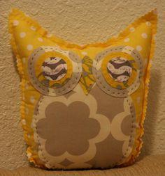 Yellow Polka Dot Owl Friend. $20.00, via Etsy.