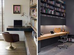 Wem es vor einem typischen Schreibtisch mit Ablage, Rollcontainer und Billy-Regel grault, kann das Thema Workspace auch eleganter Lösen.