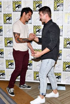 Tyler Posey & Cody Christian attend Comic-Con International in San Diego on July 21, 2017.