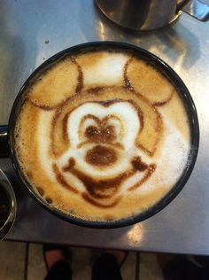 Mickey Mouse Latte by Coffee-Katie on DeviantArt