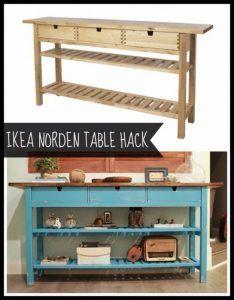 Home Furniture Diy Ikea Hacks Platform Beds 31 Super Ideas Diy Hanging Shelves, Floating Shelves Diy, Diy Wall Shelves, Ikea Norden Table, Table Ikea, Table Bench, Diy Table, Ikea Regal, Ikea Kallax Regal