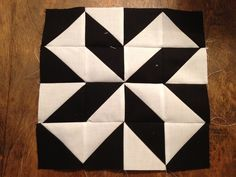 Modern Half Square Triangle Quilt a long Block 2                                                                                                                                                                                 More