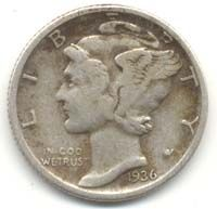 How Old Is Your Mercury Dime?: Mercury Dime in average circulated condition (obverse side) Rare Coins Worth Money, Valuable Coins, Old Coins Value, English Coins, Rare Stamps, Error Coins, Coin Worth, Coin Values, Antique Coins