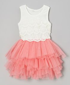 Take a look at this POP Couture Bubblegum Pink Lace Tutu Dress - Toddler & Girls on zulily today!