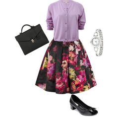 A fashion look from March 2015 featuring Marni cardigans, Ted Baker skirts and Cole Haan pumps. Browse and shop related looks.