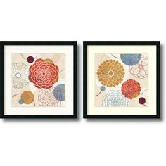 Veronique Charron 'Abstract Bouquet' 2-piece 26 x 26-inch Framed Art Print