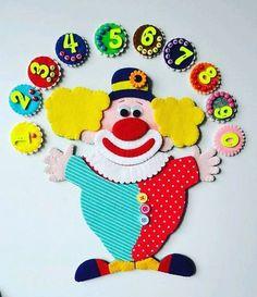 Lernspiel - özlem Kayacık - Willkommen bei Pin World Classroom Walls, Classroom Crafts, Preschool Crafts, Crafts For Kids, School Board Decoration, School Decorations, Mickey Mouse Classroom, Clown Crafts, School Painting