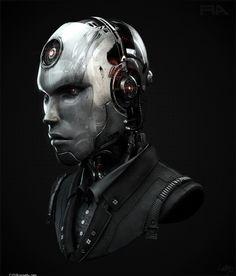 Cyberpunk, Robot assassin, Liam Morrey, future, cyberpunk, futuristic, robot, android, cyborg, cyber man, futuristic robot, future robot by FuturisticNews.com