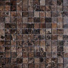 Brown Original Brown Emprador Mosaic Bathroom Tiles