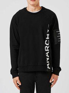 RELIGION Black Logo Zip Sweatshirt