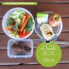 Great lunch box idea! Honey soy chicken piece(s) with salad, rice crackers, fruit and sultanas.  Bake up the chicken in advance and keep in fridge for lunches and snacks. Kids love them! #Funfoodideas #kidsfood #CharlieSuperSnacks #lunchboxlegend #lunchboxideas