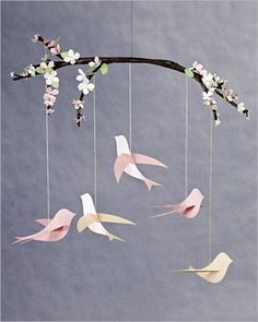Keep your birdies simple - Adorable DIY Baby Mobile Ideas - Photos