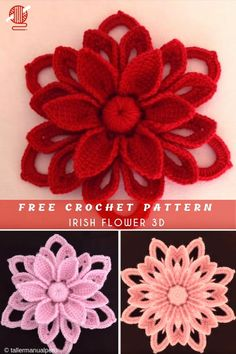 Irish Flower Free Crochet Pattern Irish crochet in is a beautiful flower-like decoration to all kind of garment, but to home inside, join with curtains or afghans and blankets. To better understand the video tutorial read the wri Irish Crochet Tutorial, Irish Crochet Patterns, Crochet Flower Tutorial, Pattern Flower, Paisley Pattern, Crochet Butterfly Free Pattern, Paisley Design, Crochet Leaves, Thread Crochet