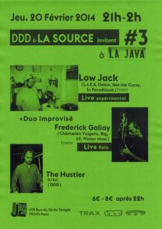 DDD & La Source | Java | Paris | https://beatguide.me/paris/event/java-ddd-la-source-invitent-with-low-jack-20140220