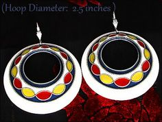 Retro Jewelry Facts, Fashions, & Trends: Retro Jewelry : Funky Retro Seventies Style Hoop E...