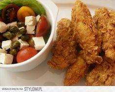 kurczak a la kfc składniki: 2 duże piersi z kurczaka… na Stylowi.pl