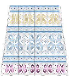 Loom Knitting Stitches, Fair Isle Knitting Patterns, Knitting Charts, Free Knitting, Knitting Socks, Crochet Patterns, Knit Or Crochet, Filet Crochet, Crochet Crafts