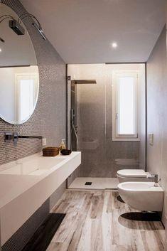 Wooden Bathroom Vanity, Bathroom Furniture, Small Bathroom, Bad Inspiration, Bathroom Inspiration, Modern Bathroom Design, Bathroom Interior Design, Archi Design, Little Houses