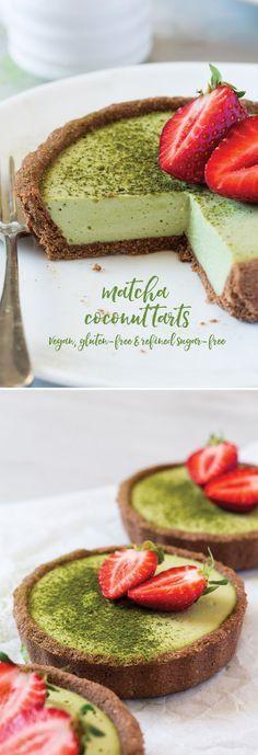 Vegan Matcha Coconut Tarts