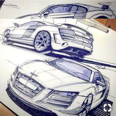 Best Ideas For Cars Drawing Pencil Ideas Car Design Sketch, Car Sketch, Design Art, Technical Illustration, Car Illustration, Audi R8, Object Drawing, Industrial Design Sketch, Car Drawings