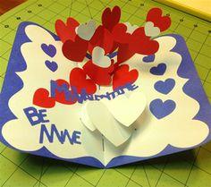 Make a 3 D Valentine's Day Pop Up Card