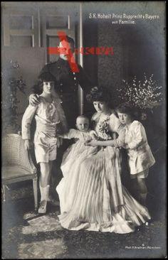 S. K. Hoheit Prinz Rupprecht von Bayern mit Familie