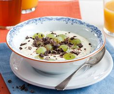 Recept: Vanillekwark met chocolade en druiven | Gezond eten