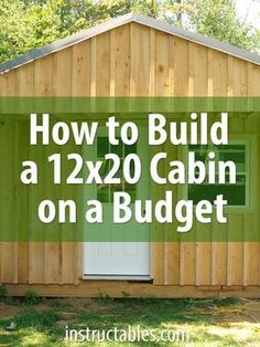 Building a cabin yourself is much more economical than buying a prefab storage shed. The cost of materials for this build, including doors and windows, was around. Building A Cabin, Building Plans, Building Ideas, Building Design, Tiny House Cabin, Tiny House Plans, Tiny Cabin Plans, Shed Cabin, Shed To Tiny House