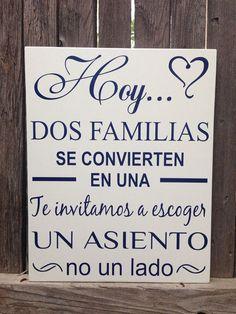 Today Two Families Become One Pick a Seat Not a Side Wedding Wood Sign Hoy...Dos Familias Spanish We - ##invitacionesdeboda #Bodacampestredecoracion #Bodacivil #Bodarústica #Bodasrústicas #Bodasvintagedecoracion #Familias #Families #HoyDos #matrimoniocampestre #Pick #Seat #Side #Sign #Spanish #Today #wedding #Wood