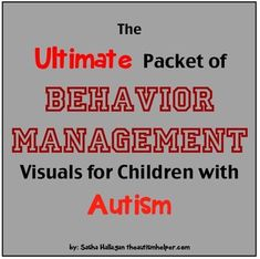 Ultimate Packet of Behavior Management Visuals for Children with Autism! {includes 10 behavior management interventions with visuals and thorough directions for implementation for a variety of behaviors!} by theautismhelper.com
