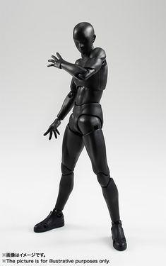Mechanical Japan: S.H.Figuarts Body-kun (Solid black Color Ver.) & Body-chan (Solid black Color Ver.) (Bandai)