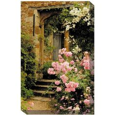 Julietu0027s Garden Outdoor Canvas Art ($199) ❤ Liked On Polyvore Featuring  Home, Outdoors