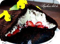 Oreo-Maulwurfkuchen Rezept mit Erdbeeren.