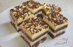 Krispie Treats, Rice Krispies, Czech Desserts, Tiramisu, Creme, Cheesecake, Good Food, Dessert Recipes, Sweets