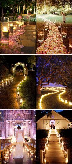 22 Utterly Romantic Candlelight Entrance Decor Ideas - Romantic Pathway